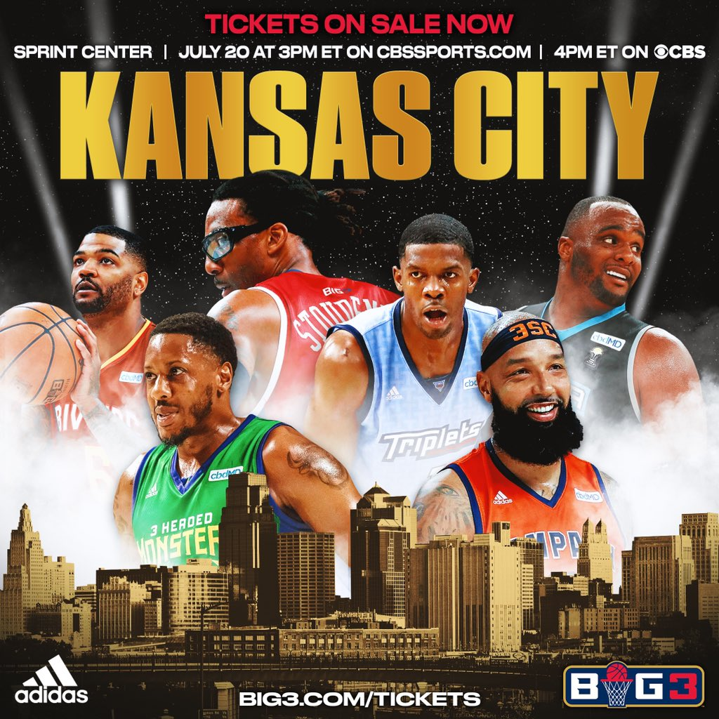 RT @thebig3: A lot of talent heading into Kansas City this Saturday ???????????? #BIG3onCBS  https://t.co/6y7TmFXCXV https://t.co/7hpMFPotGV