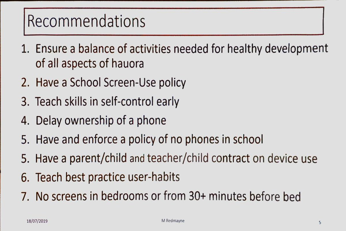 test Twitter Media - RT @taisamaeli: Recommendations for screen time from Dr Mary Redmayne #elf19nz https://t.co/MeqQBEWqWV