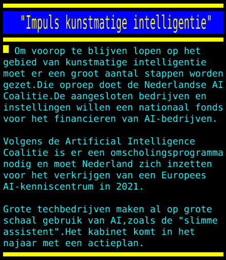 "test Twitter Media - ""Impuls kunstmatige intelligentie"" https://t.co/WVcO3NgxJE"