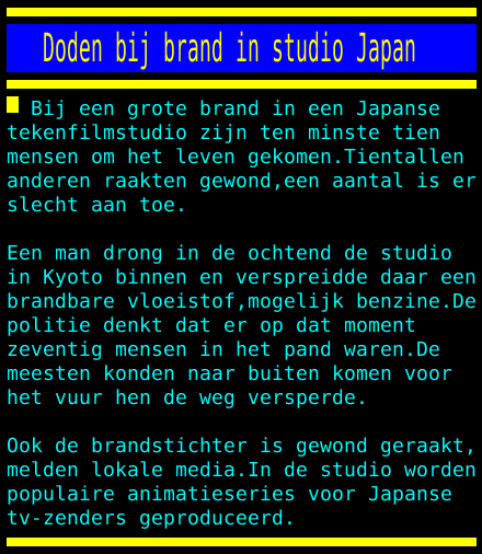 test Twitter Media - Doden bij brand in studio Japan https://t.co/O1Yrlc6L3E