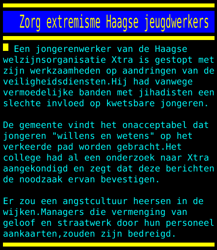 test Twitter Media - Zorg extremisme Haagse jeugdwerkers https://t.co/23HC8KkLmQ