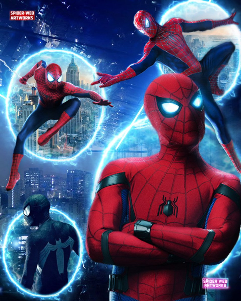 test Twitter Media - #SpiderMan versions from different #spiderverse dimensions !!!  Tobey maguire Spider man ( Earth-96283 )   Andrew garfield ( Earth-120703 ) Tom holland ( Earth-199999 )   Symbiote Spiderman ( Earth-616 )     #SpiderManFarFromHome #tobeymaguire #TomHolland #AndrewGarfield https://t.co/ZWBIMbfpLp