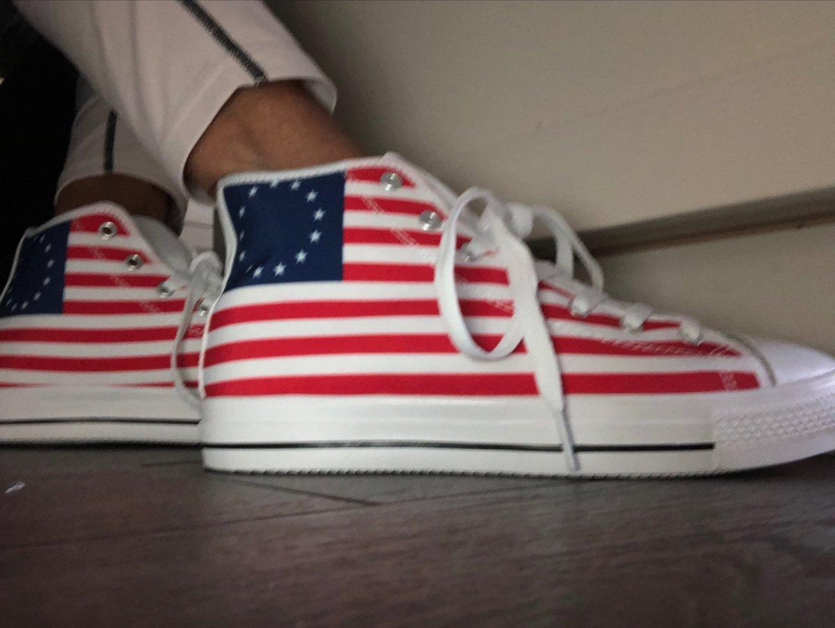 @Kaepernick7 I ABHOR racism; I ABHOR white supremacy! I LOVE my new sneakers!!!! #walkawayfromnike https://t.co/KXF8ayeEnf