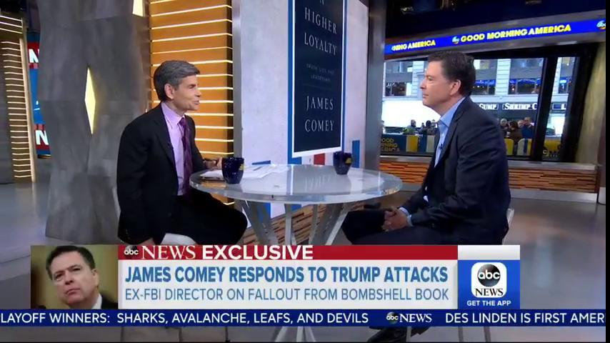 LIVE NOW: Former FBI Director James @Comey joins @GMA.