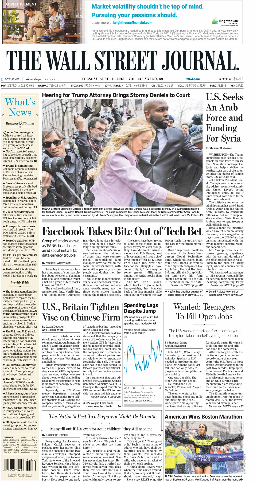 Take an early look at the front page of The Wall Street Journal https://t.co/5xQPDPcm8q https://t.co/kLKJAHms1s