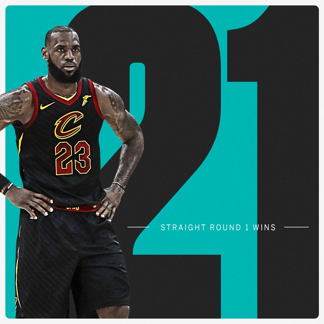 Reminder: @KingJames doesn't lose in the first round. https://t.co/VU84rXc8iw