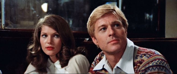 """Happy 71st Birthday to Lois Chiles!  Here with Robert Redford in \""""The Way We Were\"""" (1973)"""