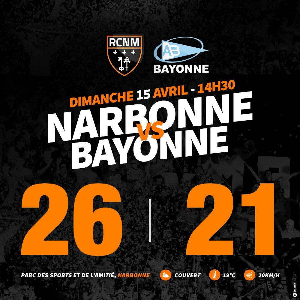 Pour le dernier match de la saison, le Racing s'impose face à Bayonne ! #RCNMAB...