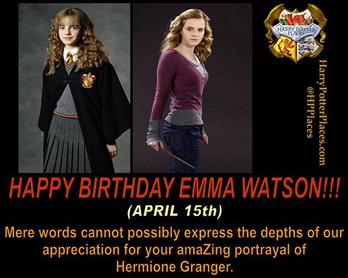Happy Birthday to Emma Watson
