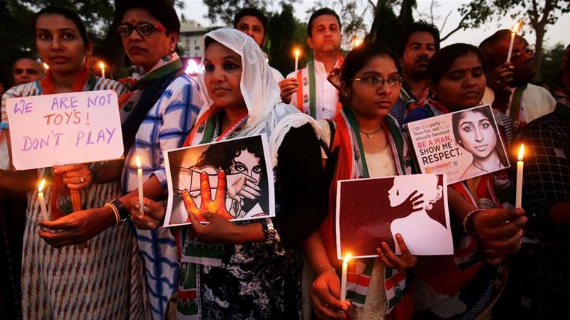 Nationwide protests in India demand justice for rape victims https://t.co/T0TrcIpP8A #NotInMyName #JusticeforAsifa https://t.co/iaXUSf3vVu