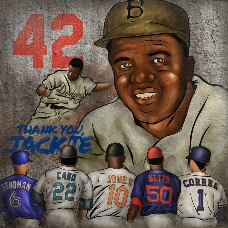 The legend who paved the way. Here's to you, #Jackie42. https://t.co/zSEweLDGn0