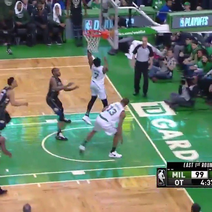 Jaylen Brown & Terry Rozier combine for 43 PTS in the @celtics Game 1 home win! #CUsRise #NBAPlayoffs https://t.co/BxH7JLGpms
