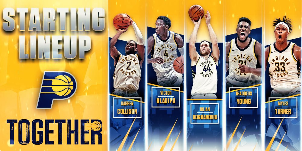 The Game 1 starting five.  #Together #PacersPlayoffs https://t.co/AcBMa328cN