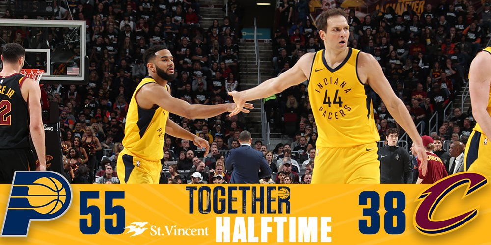 Halftime in Cleveland.  #Together  |  #PacersPlayoffs https://t.co/iAcgJ2ZIwp
