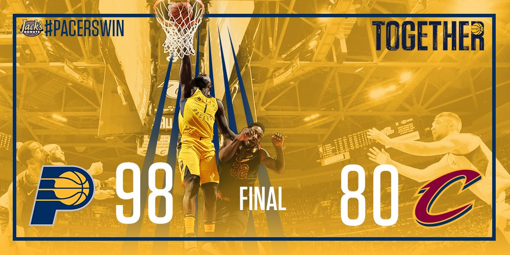 Doing what they said we couldn't.   #PacersWin Game 1! https://t.co/ulZqz3I962