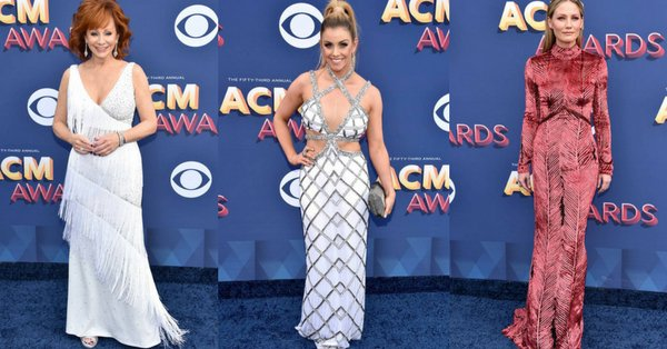 The stars have started to arrive at the ACMAwards and here are all their red carpet looks.