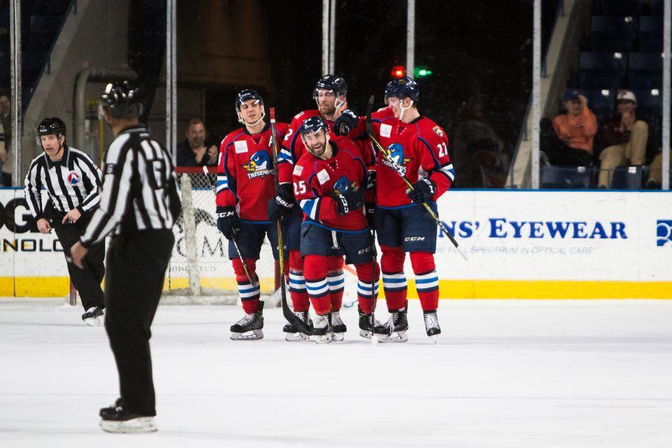 Springfield Thunderbirds fall at Providence Bruins, 4-2, in season finale