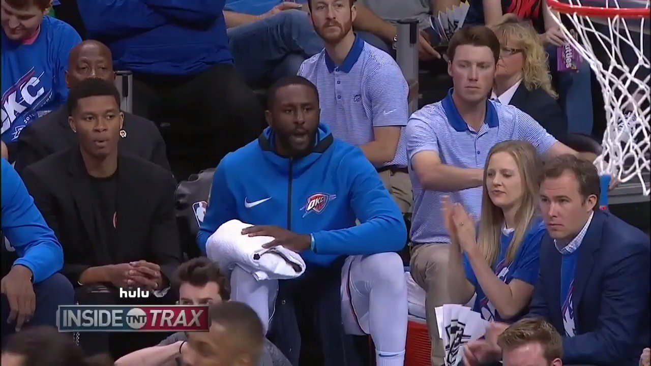 Patrick Patterson is mic'd up for the @okcthunder on @NBAonTNT! #ThunderUp https://t.co/CDu6mpAcPu