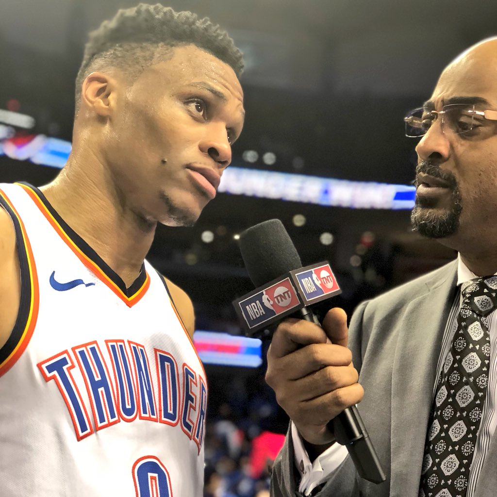 29 PTS. 13 REBS. 8 ASTS.  Russell Westbrook & the @okcthunder take a 1-0 First Round series lead! #NBAPlayoffs https://t.co/Ef69Ub0ehJ