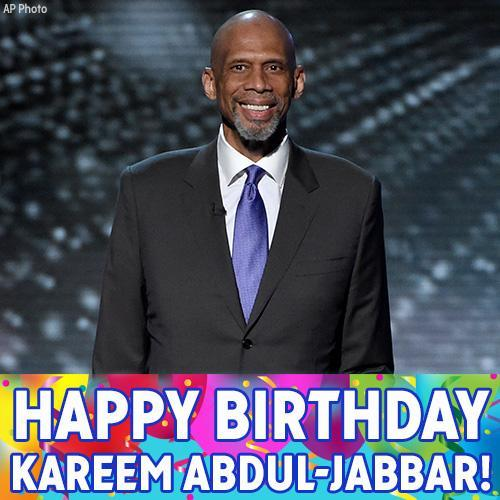 Happy birthday to NBA legend and contestant Kareem Abdul-Jabbar