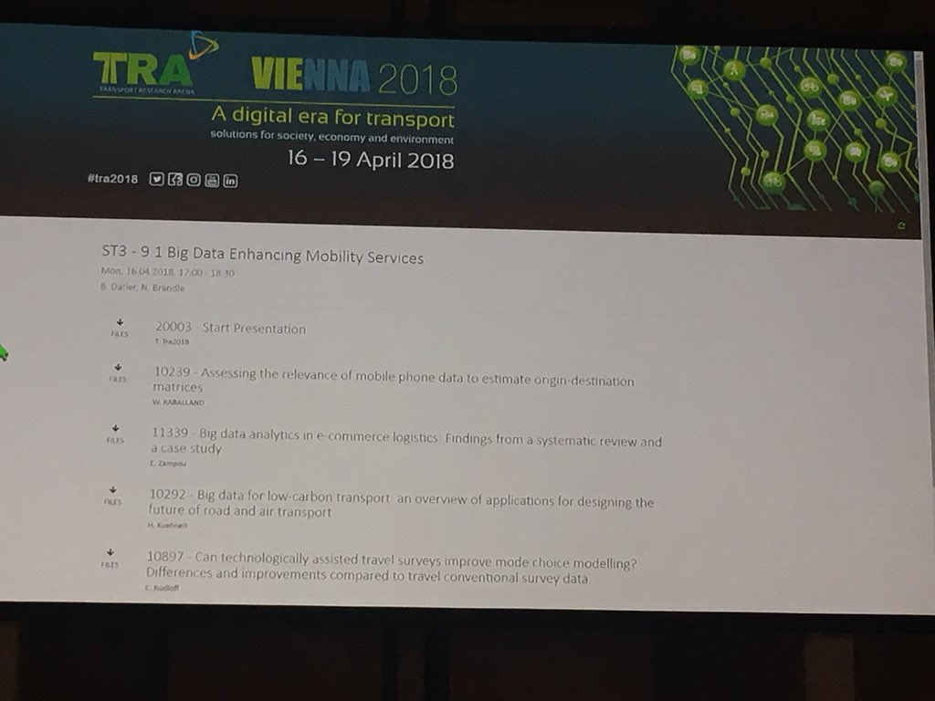 test Twitter Media - Tweeting from @TRA_Conference. Attending the big data enhancing mobility services session #bigdata #transport #TRA2018 https://t.co/ArvJC4LEC5
