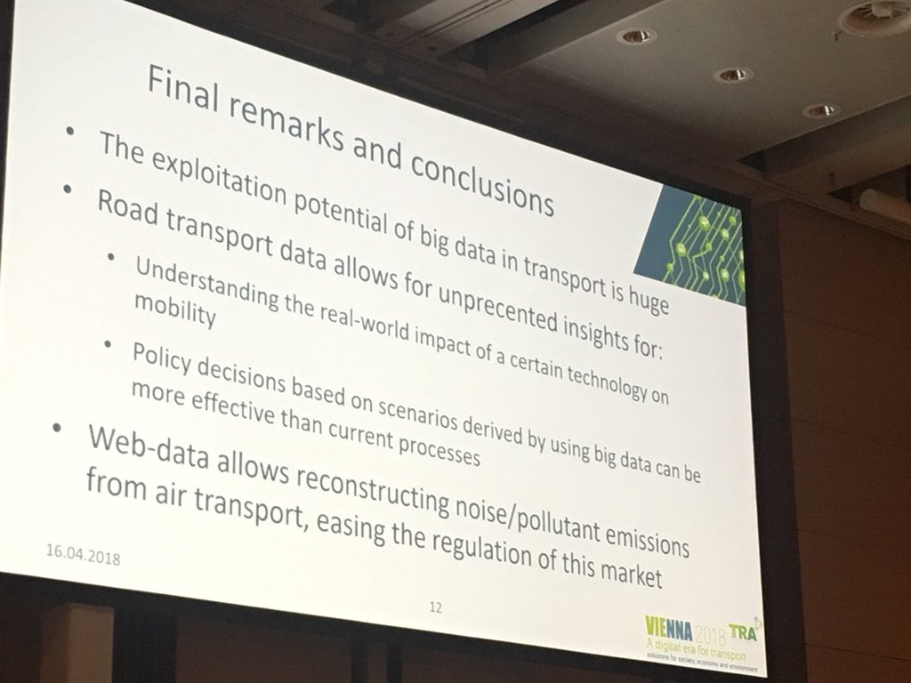 test Twitter Media - The exploitation potential of #bigdata in #transport is huge.. #tra2018 https://t.co/hp4dOmZfTT