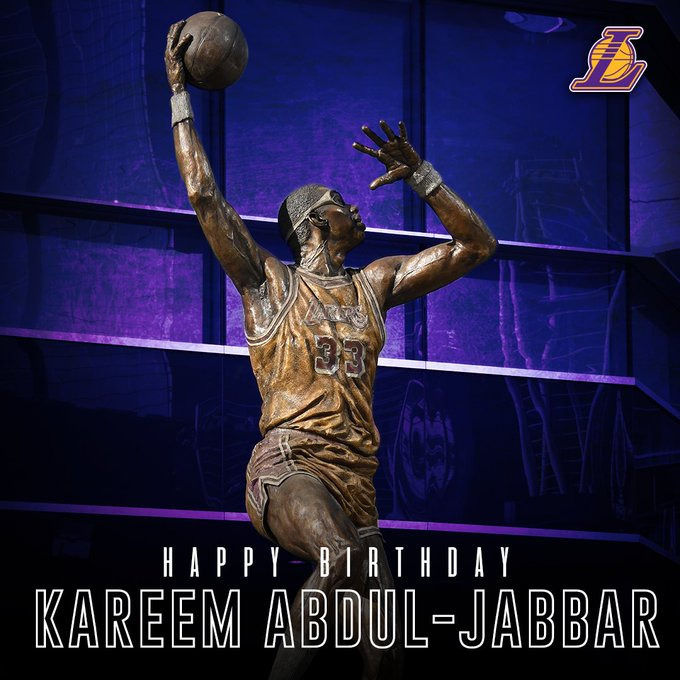 Happy Birthday to Lakers legend Kareem Abdul-Jabbar!