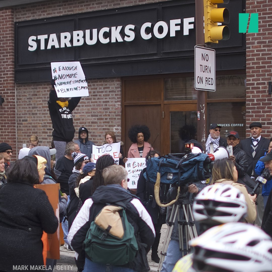 A viral video of two black men getting arrested for sitting in a Philadelphia Starbucks has sparked public outrage. https://t.co/dy8P4o8sDn