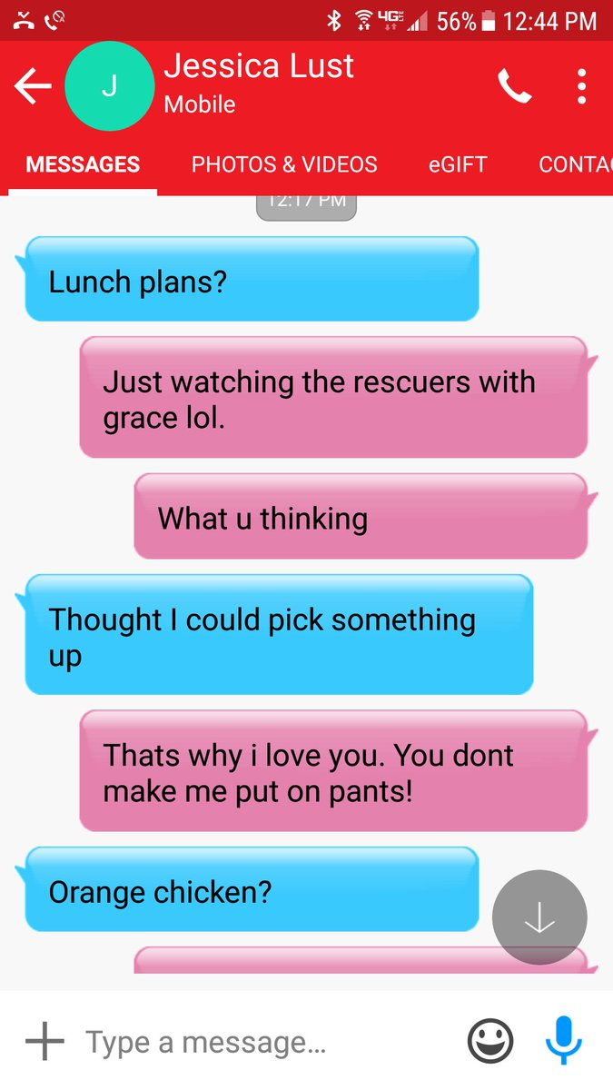 A true friend makes the kind of lunch plans that don't require pants H