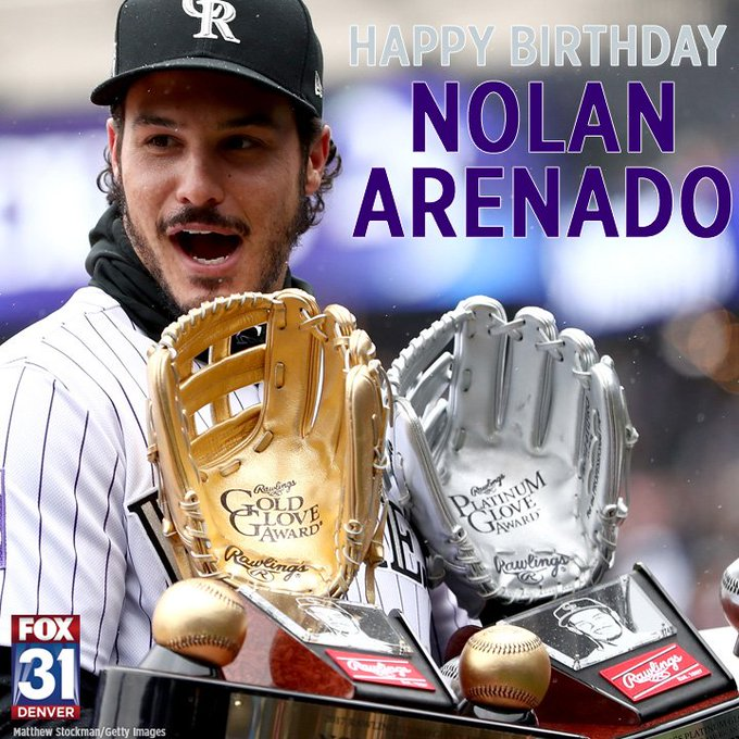 Happy Birthday to the best third baseman in baseball - Nolan Arenado of the He turns 27 today.