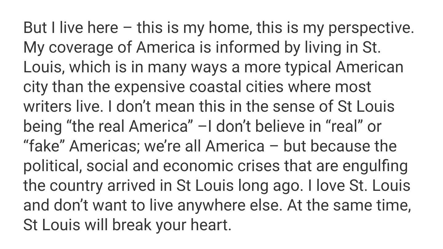 My thoughts on writing about national politics from St Louis https://t.co/dllebvQlo2 https://t.co/SlXfAhoRAK