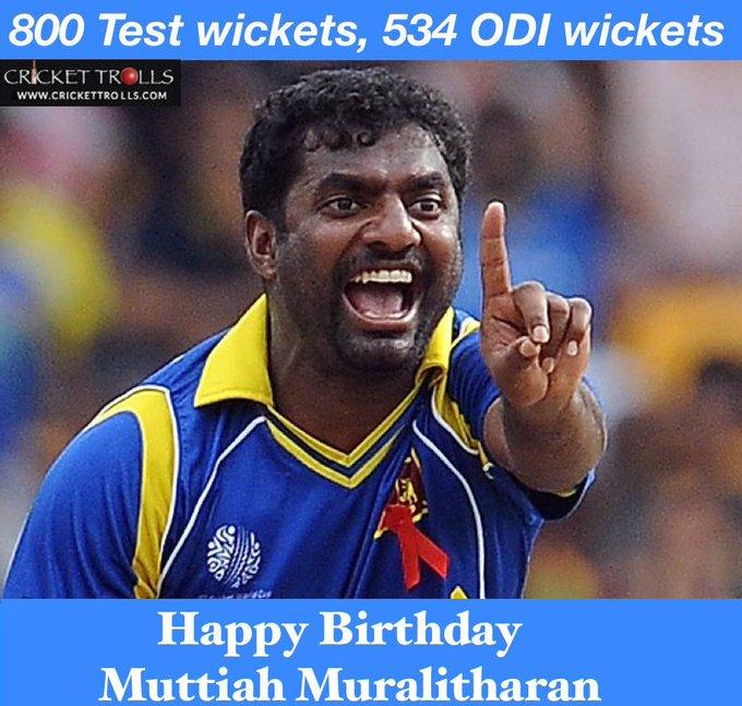 Happy birthday to Muttiah Muralitharan!