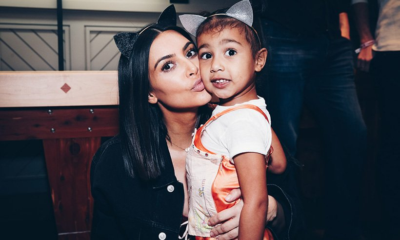 Kim Kardashian has shared the first ever photo of her family of five!