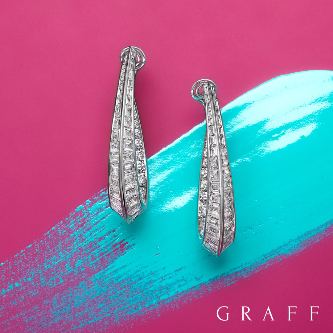 New from our workshop:  exquisite baguette And round diamond hoop earrings. #graff  #finejewelry https://t.co/jqHTCKKhlY