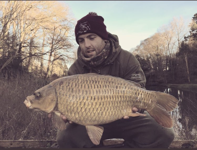 Venue regular @JonMills86 with a nice fish in freezing winter conditions  from peg 3 on the dam #car