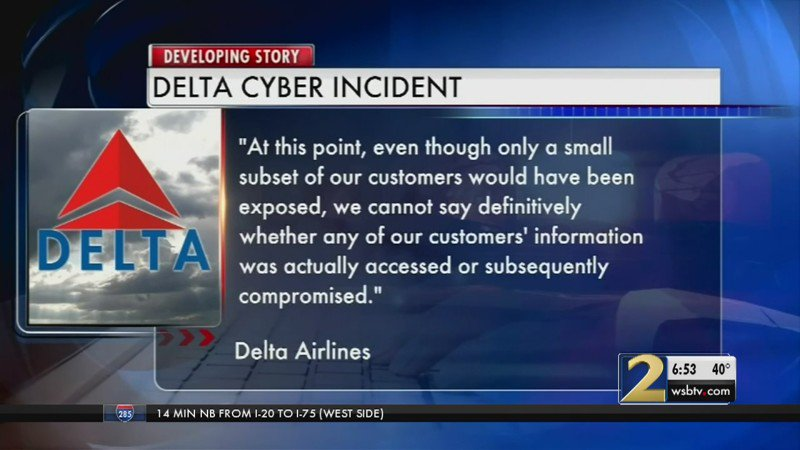Delta says cyber security breach may have exposed several hundred thousand customers