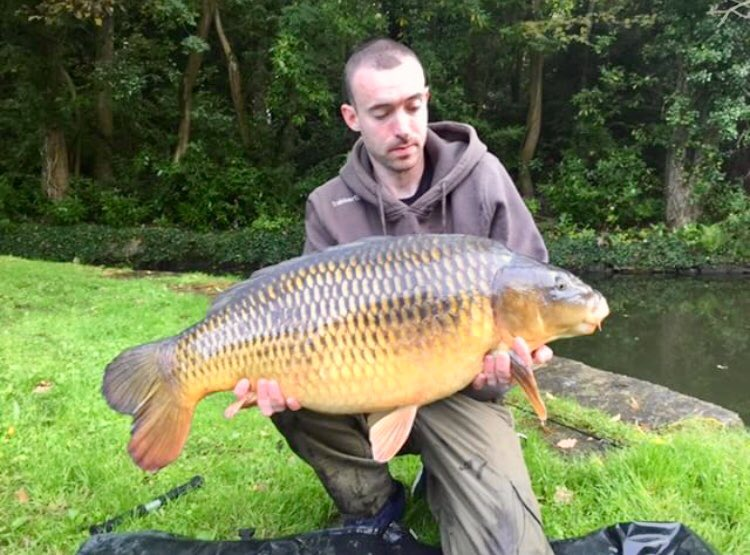 Venue regular @LiamCarpAnglerT with a corking 2<b>5lb</b> common he caught last year #carpfishing #G