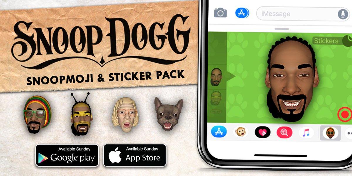 introducing the new Snoopmoji n Sticker Pack comin this Sunday . stay tuned ! @diGGital_doGG #snoopmoji https://t.co/RAVPUg318b