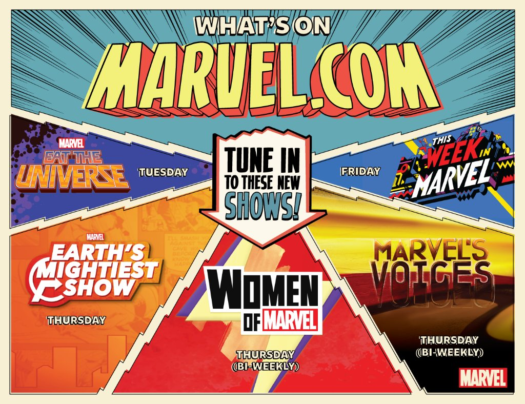 Just announced at @c2e2 — our new lineup of Marvel digital series! See more here: https://t.co/kbuL5xHh1f https://t.co/LagTjqJRXo