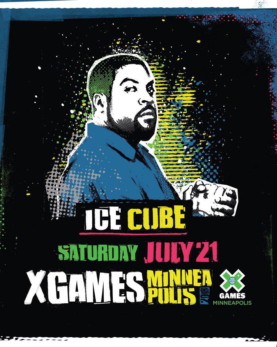 RT @XGames: .@icecube ❌ #XGames Minneapolis 2018 ⠀⠀⠀⠀ Tickets on sale now at https://t.co/WWzFr4FtBM! https://t.co/QeekvH5DjQ