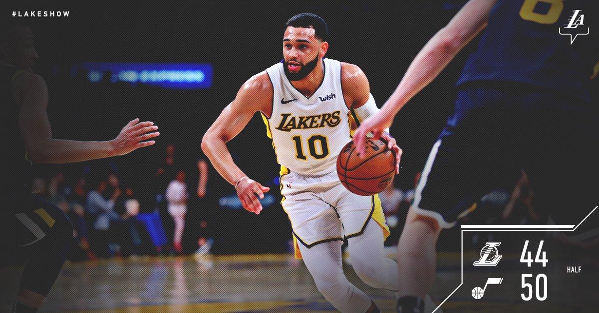 Lakers pull within 6 at intermission. Hart: 15 pts Randle: 13 pts Ennis: 9  pts, 3 stl https://t.co/oNV93zEekj