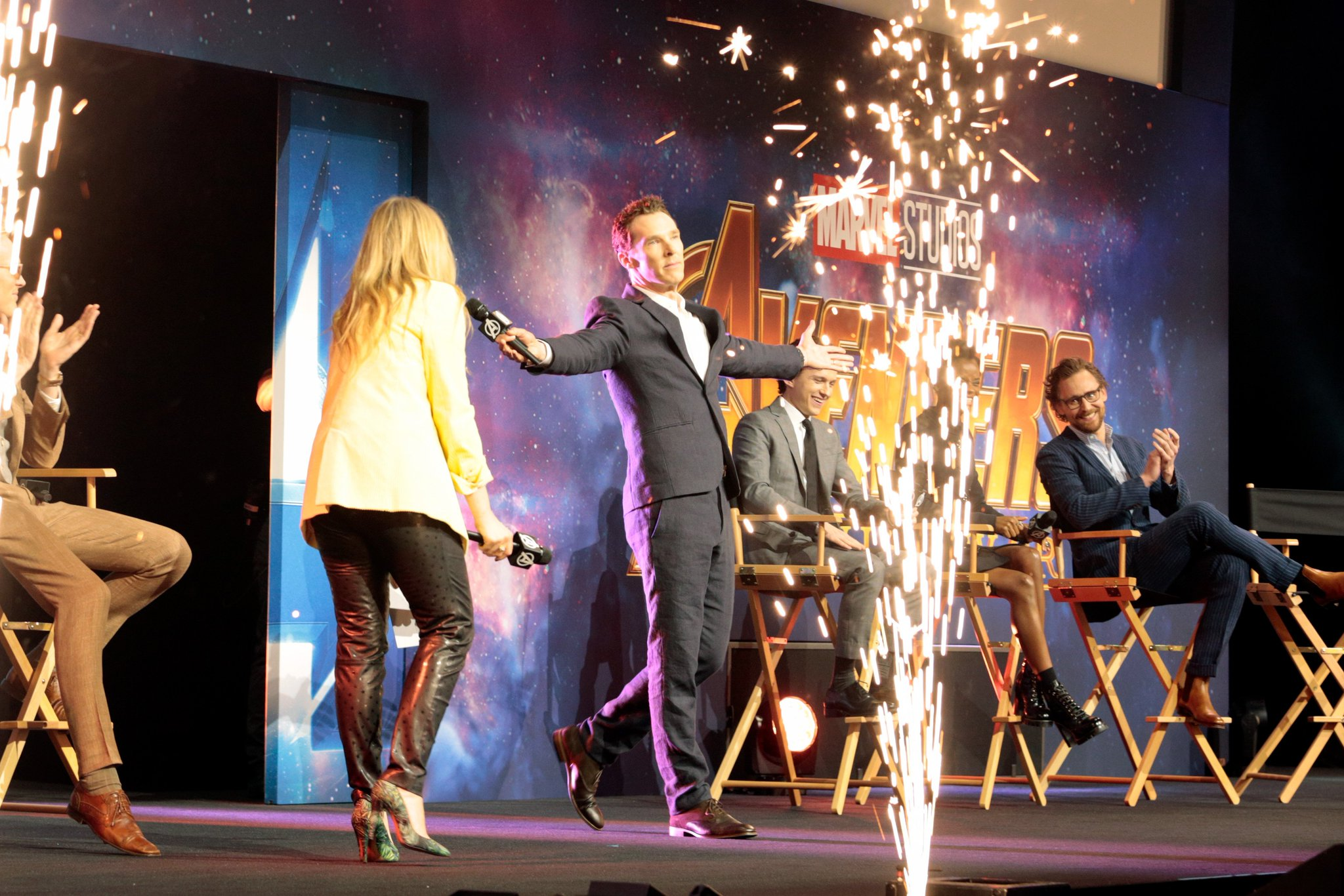 See the photos from the Marvel Studios' @Avengers: #InfinityWar red carpet fan event in London! (3/3) https://t.co/9eUf7Tbfn7
