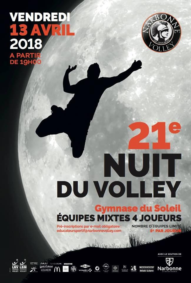 Organisée par @narbonnevolley @FFvolley la 21e #NuitDuVolley c'est pour ce...