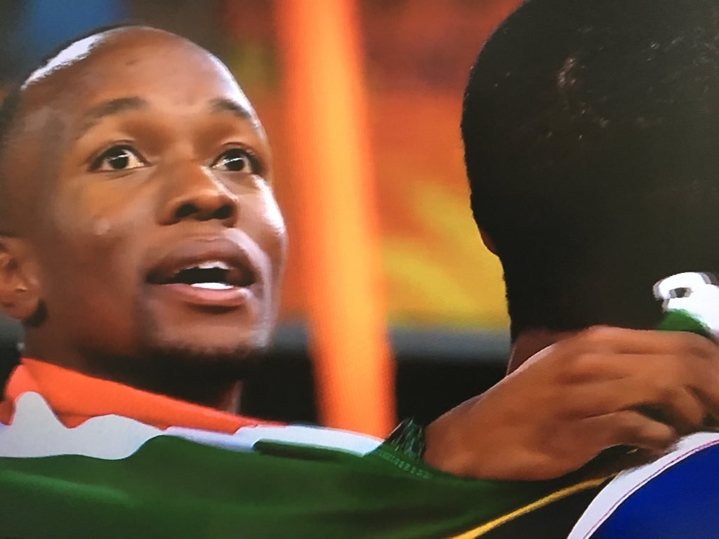 Almost a clean sweep for Africans in the Men's 100m Final @GC2018.   Congratulations @AkaniSimbine & @KINGBRUINTJIES 👏🏿  Chin up @seyeogunlewe, better luck next time. Wish you had support you needed in the run up to the Games without the drama with the AFN.  #GC2018Athletics https://t.co/sMZKzkmLX9