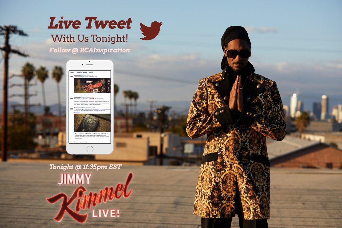 make sure yall follow @RCAInspiration n tweet wit em during the #BibleofLove performance tonight on #JimmyKimmel https://t.co/CbatOEn0C8