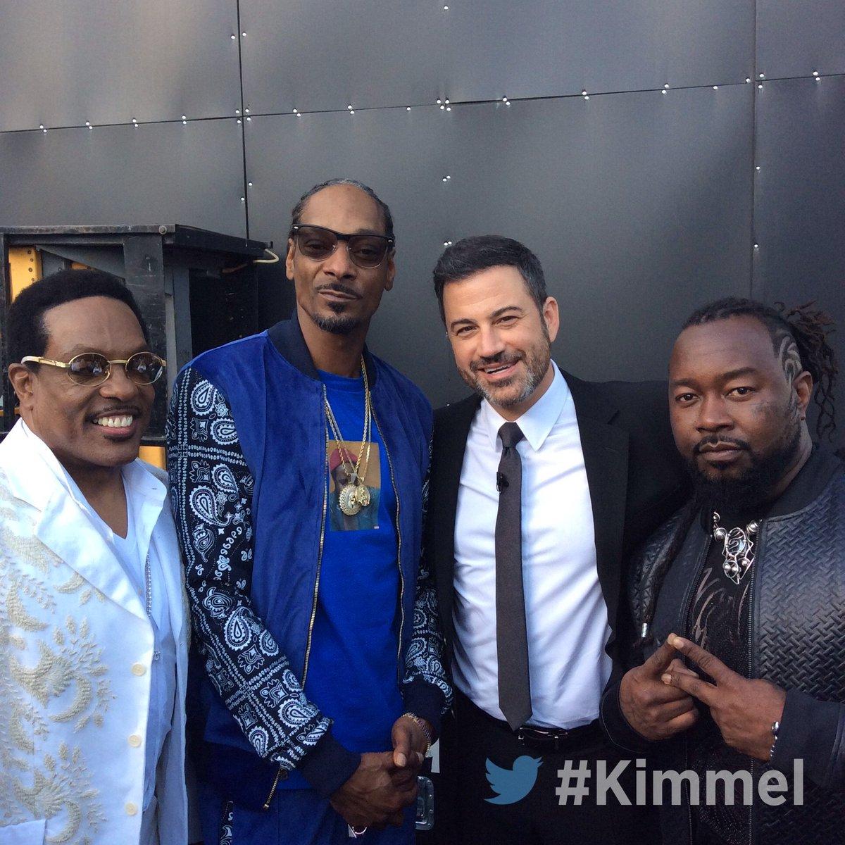 RT @JimmyKimmelLive: Backstage at #Kimmel with @SnoopDogg #BibleOfLove #JokersWild https://t.co/LtRZy2TVVz
