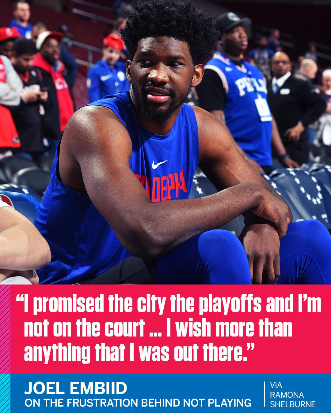 Joel Embiid explained to @ramonashelburne the frustration behind his Instagram rant. https://t.co/8zierJJrES