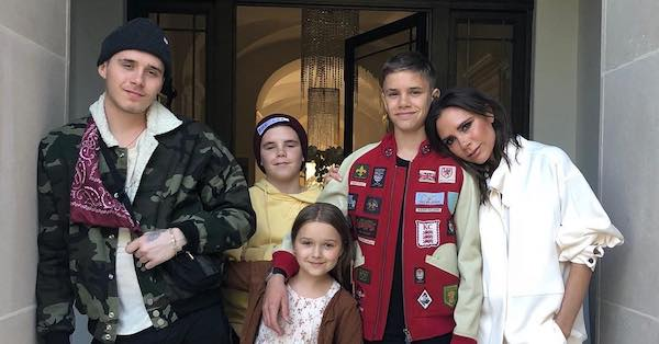 Who do you think they are? Oh, just Victoria Beckham's kids looking so grown up.