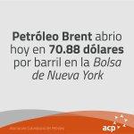 Brent abrió hoy en 70.88 dólares por barril en la Bolsa de Londres #ACP #PreciosPetróleo https://t.co/zfpCKZbEQT