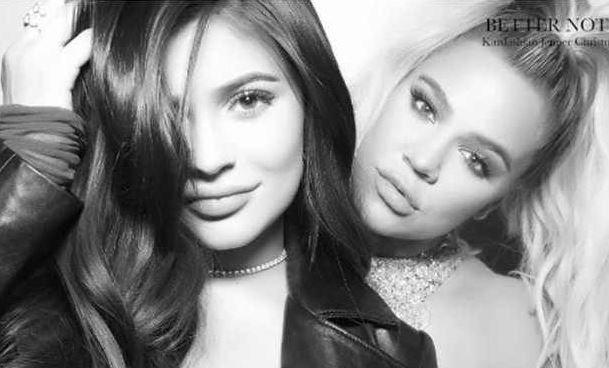 Khloe Kardashian leans on Kylie Jenner.